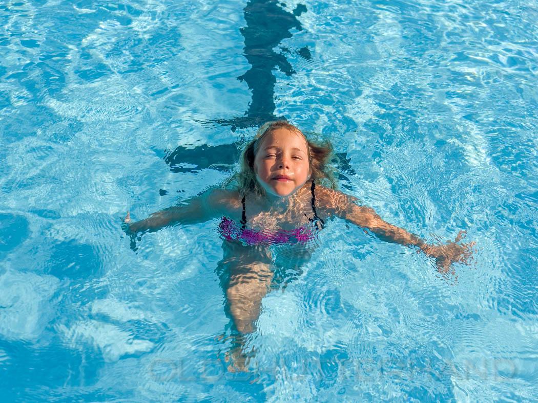 child in a swimming bath