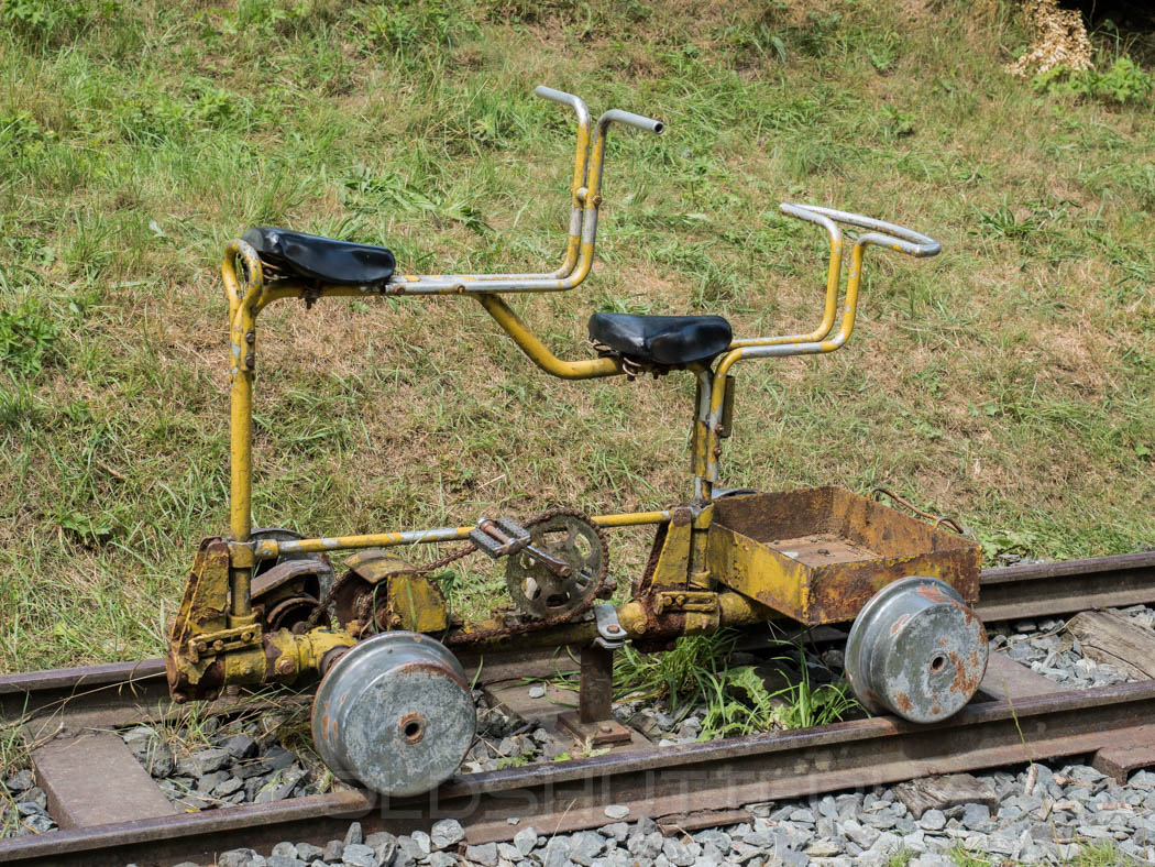 Mining tandem bike in Thuringia, Germany
