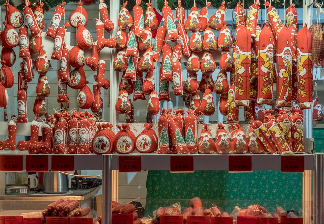 Wurst auf dem Weihnachtsmarkt