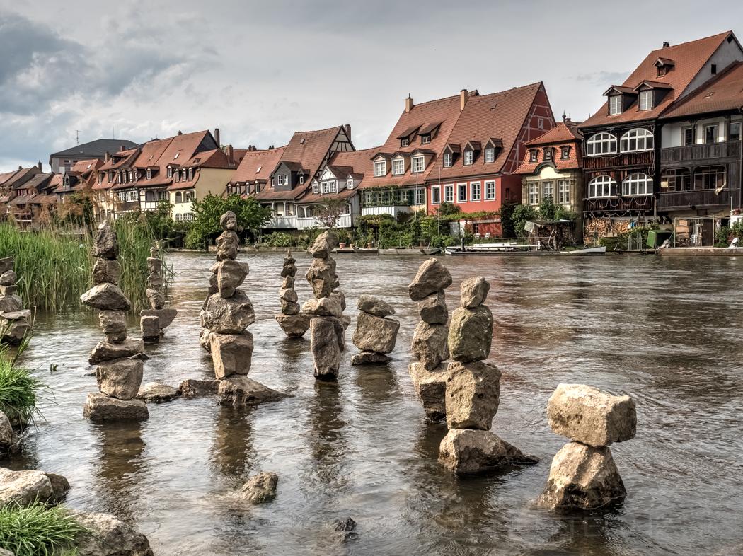 Steine an der Regnitz in Bamberg