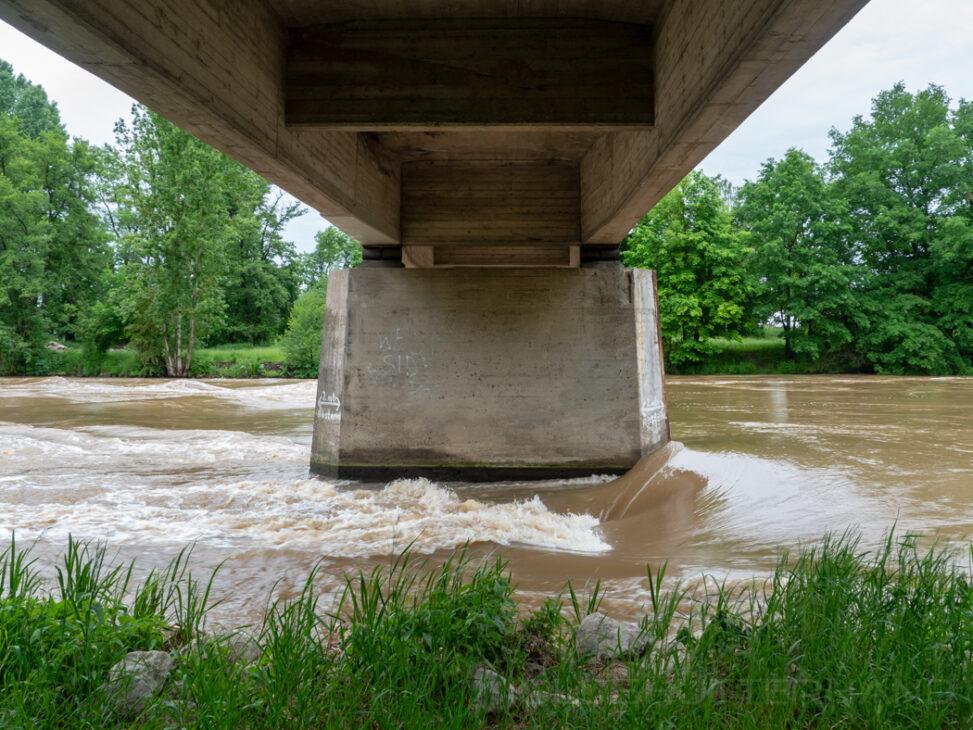 Buger Brücke Hochwasser