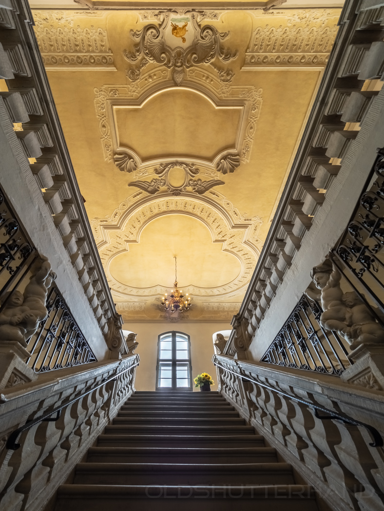 Burgwindheim Treppenhaus im Schloß