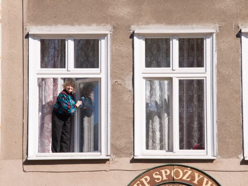 Fensterputzerin