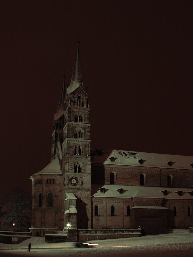 Bamberger Dom im Schnee
