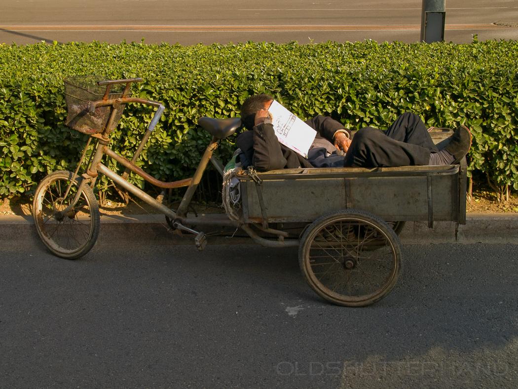 Ruhepause im Fahrrad