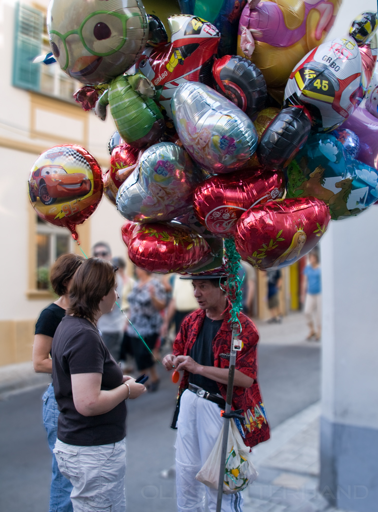 Ballons auf der Sandkerwa