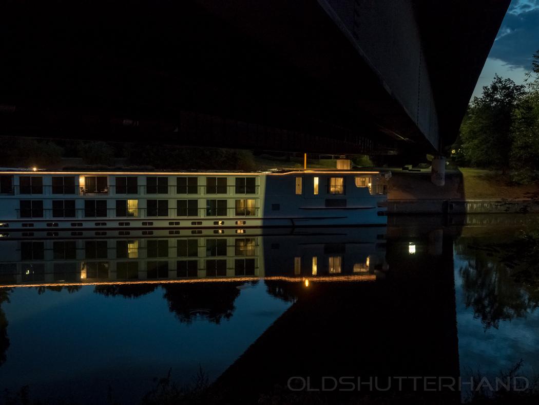 Fluss Kreufahrtschiff in Bamberg