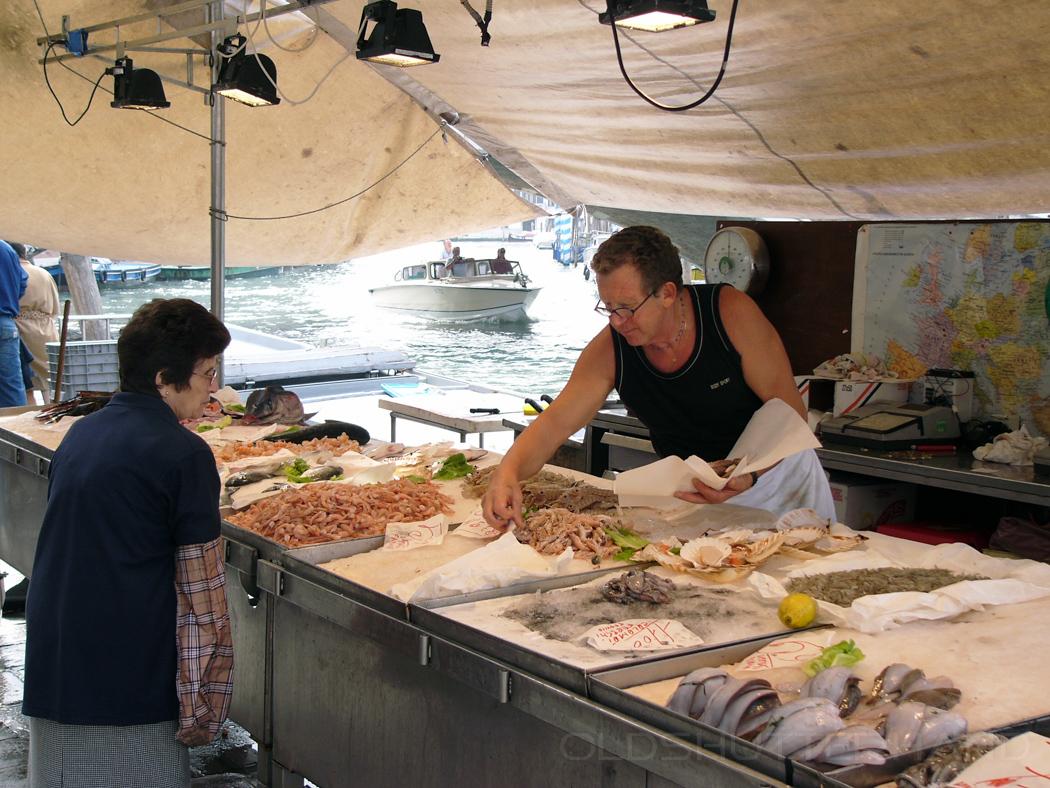 Fishmonger in Venice
