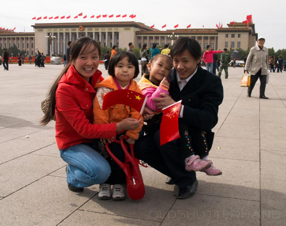 Familie in Peking