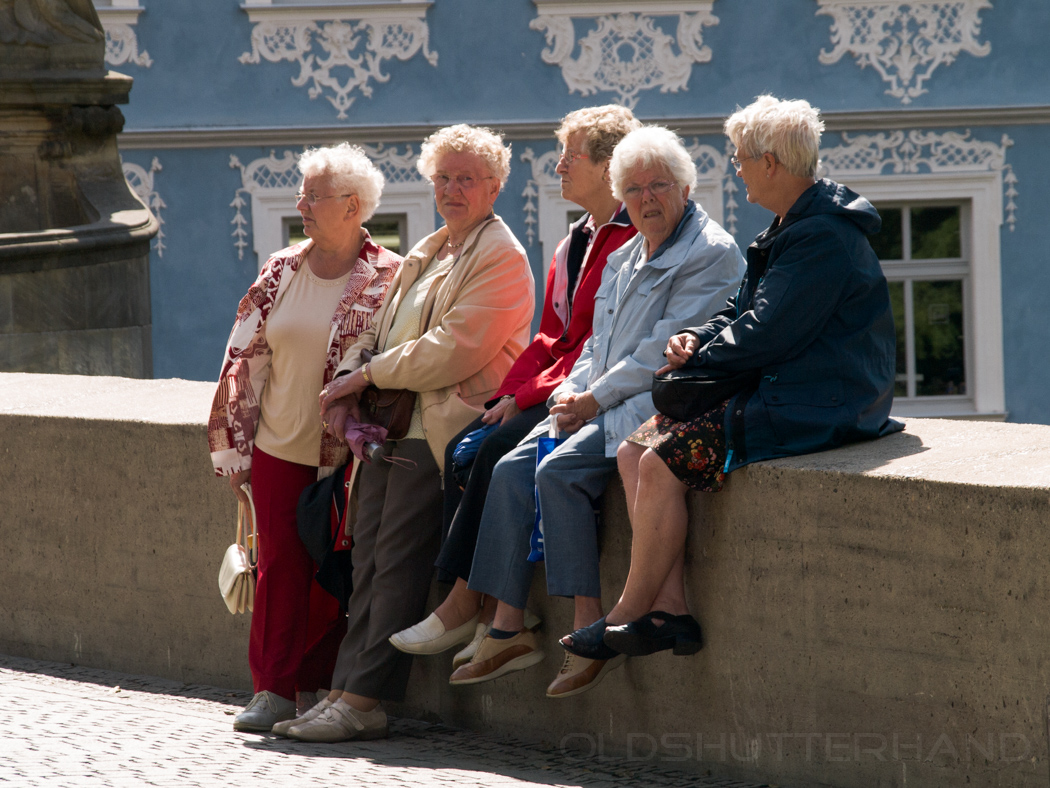 Untere Brücke Bamberg mit Damen