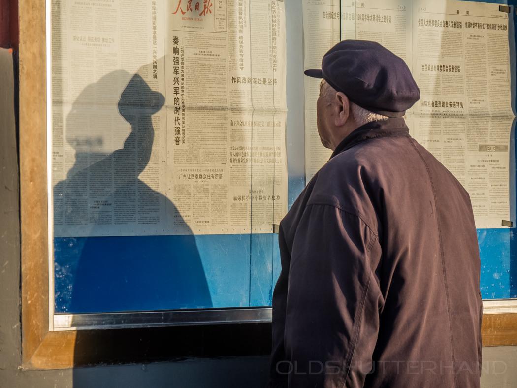 Wandzeitung und Leser