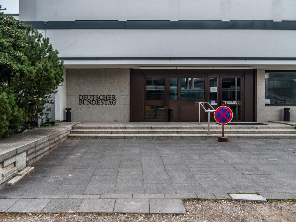 Ehemaliger Bundestag, Eingang