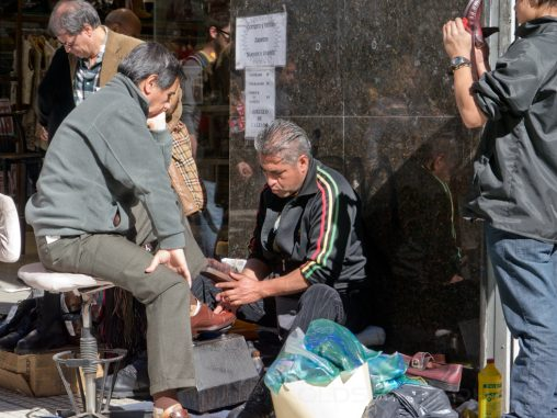 Schuhputzer in Buenos Aires