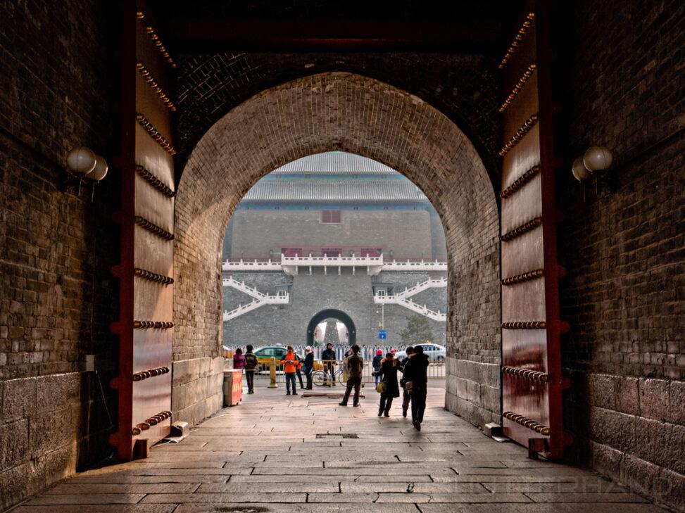 Zhengyangmen. Altes Stadttor von Peking