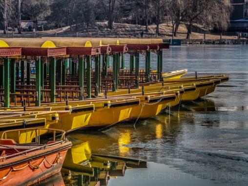 Boote im See des Beihai Park