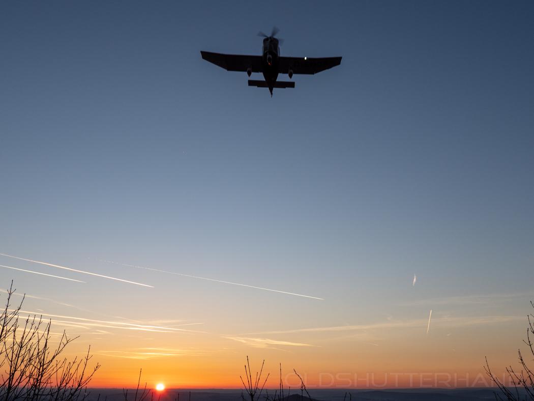 Anflug auf den Feuerstein Flugplatz