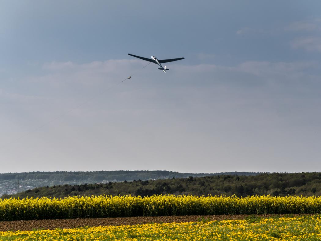 Segelflugzeugstart in Dobenreuth