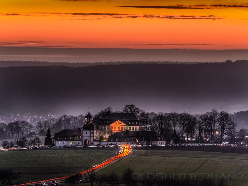 Jägersburg Abendlicht