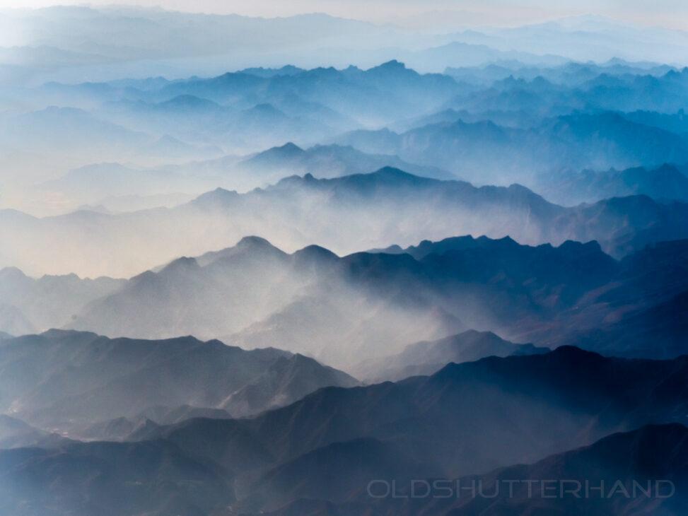 Bergkette vor Peking