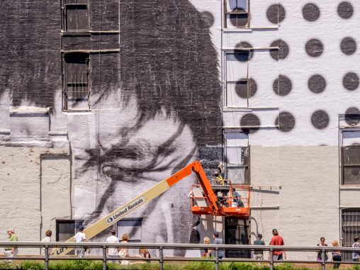 wall painting at the highline