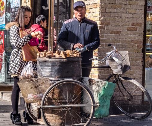 Straßenhändler in Peking