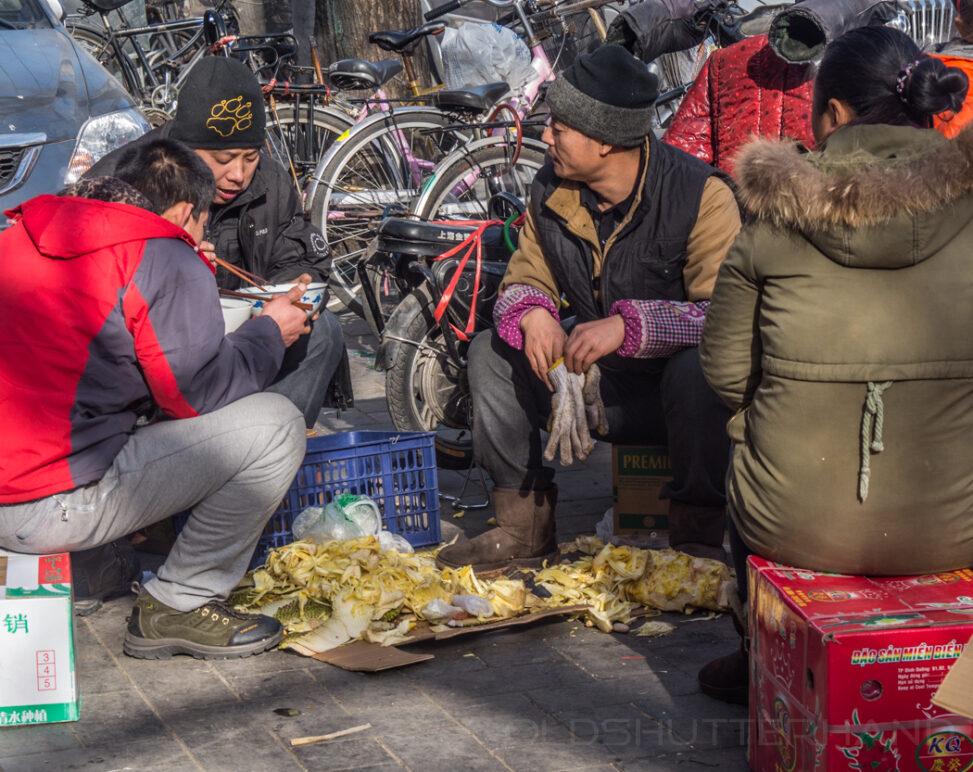 Straßenszene in Peking 2013