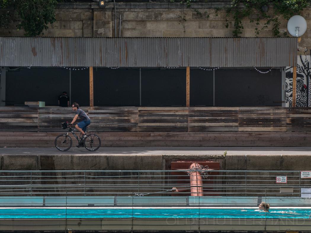 Flußschwimmbad in Wien