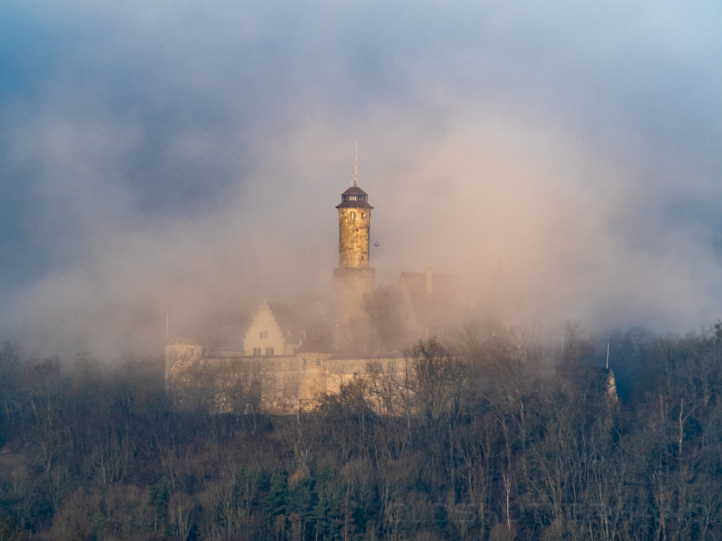 Altenburg in Bamberg im Nebel