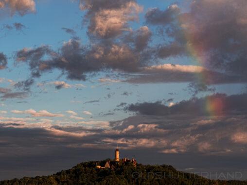Altenburg in Bamberg mit Regenbogen