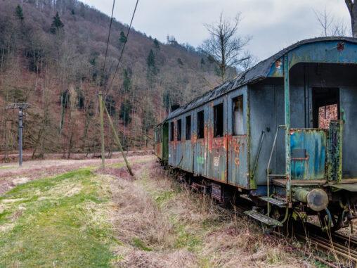 Ausgemusterter  Eisenbahnwagen
