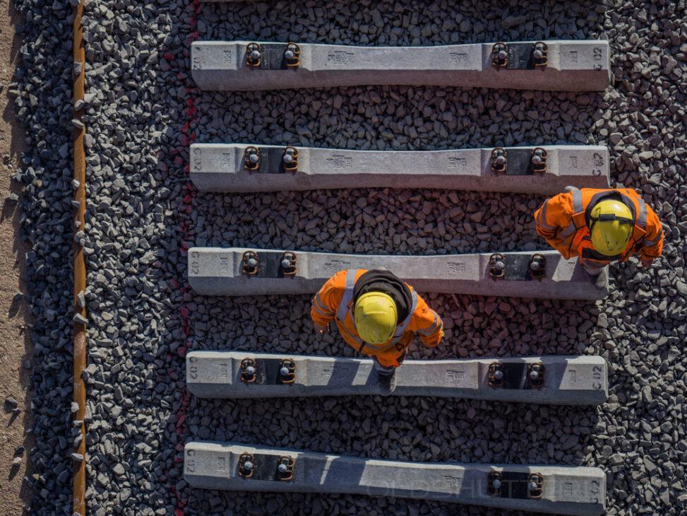 Eisenbahnbaustelle
