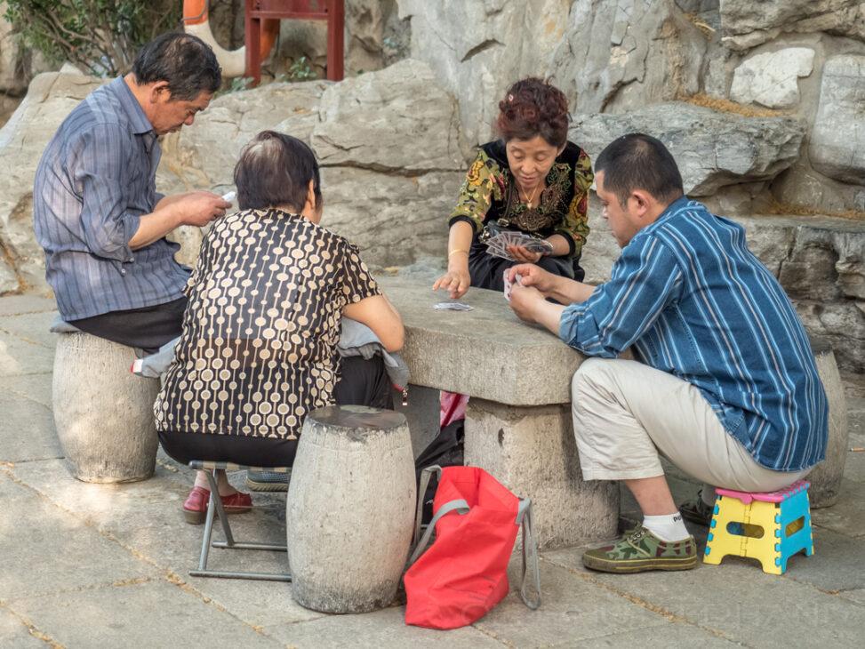 Kartenspieler in Jinan