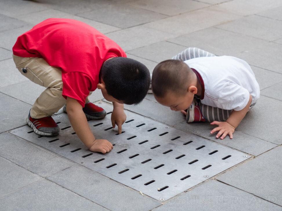 Spielende Kinder in Jinan