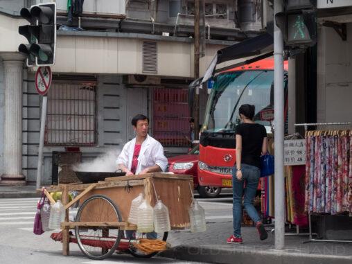 Straßenhändler in Schanghai