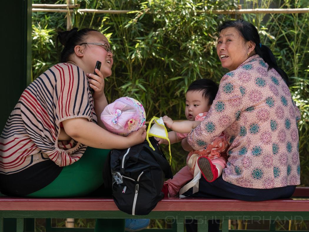 Menschen in Tianjan im Park