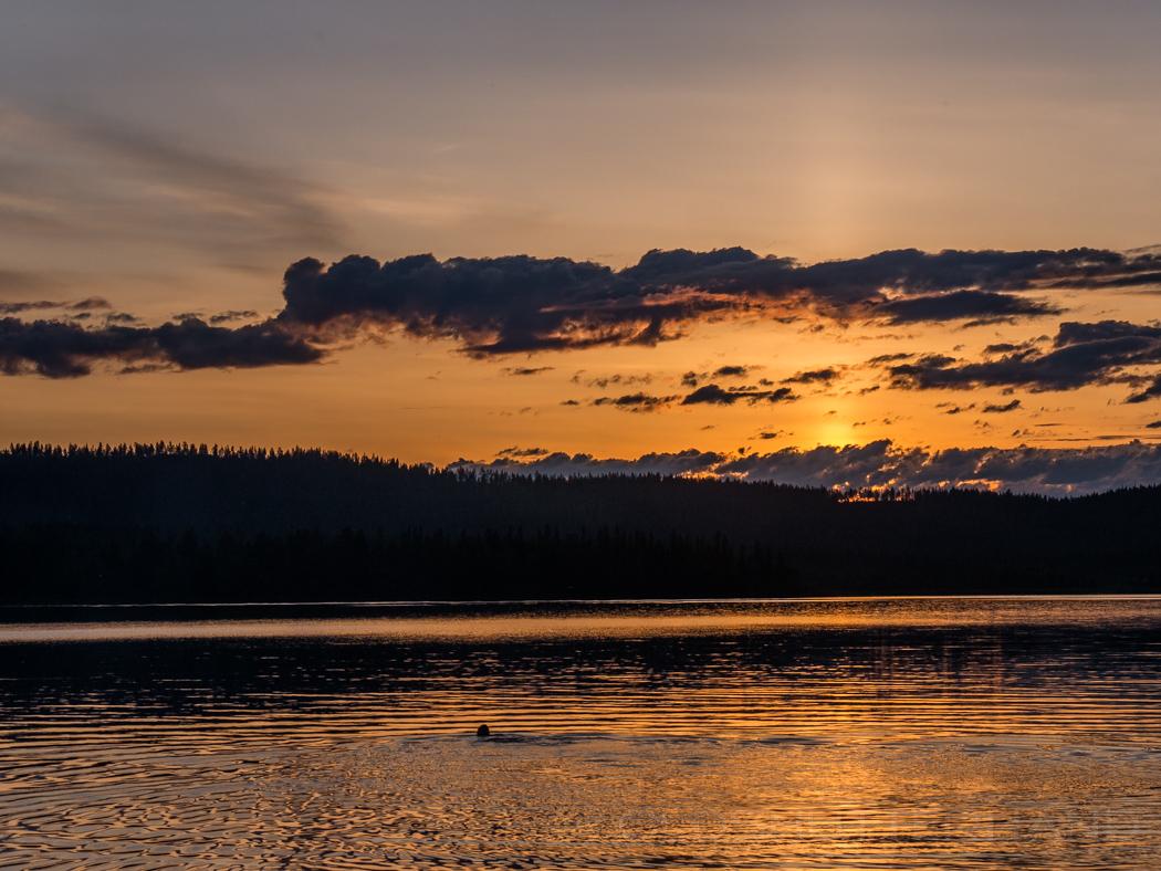 Baden im Utkujärvi