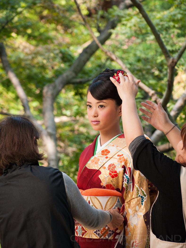 Japanische Braut im Hapo En