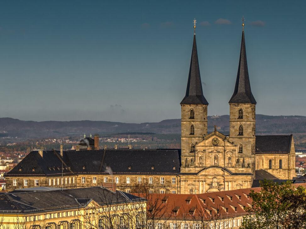 Kloster Michelsberg von der Villa Remeis aus gesehen