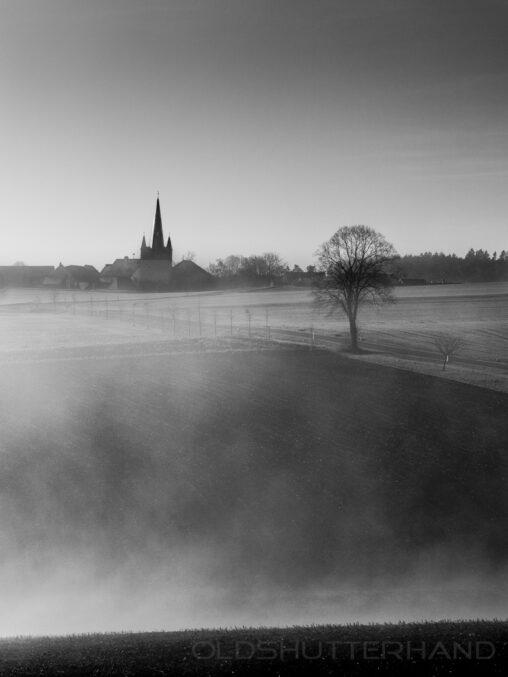 Blick auf die Kirche in Ludwag
