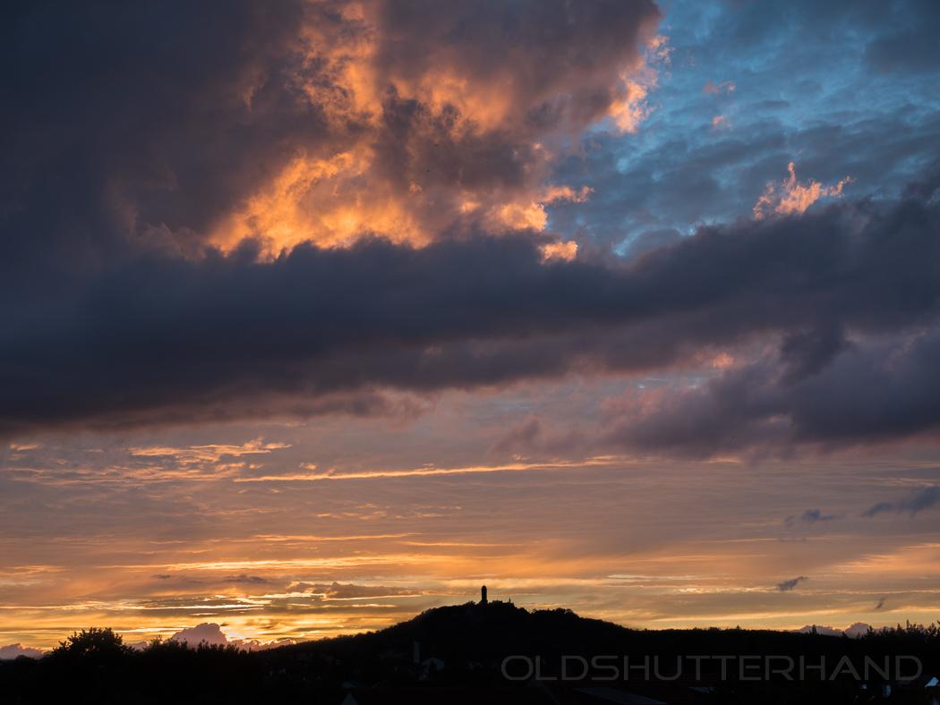 Altenburg mit Wolken