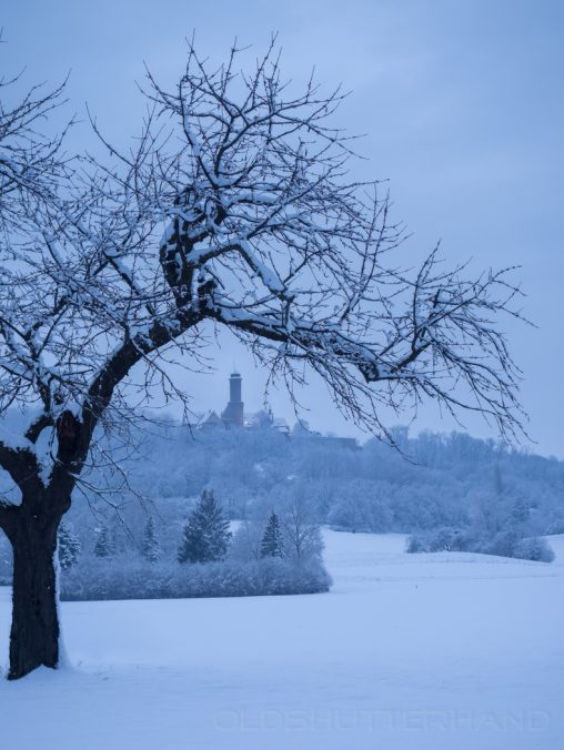 Winterlandschaft mit Altenburg