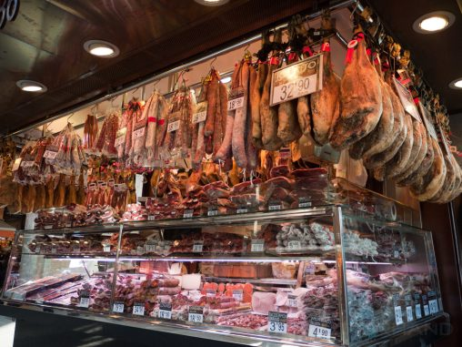 Wurstverkäufer in Barcelona