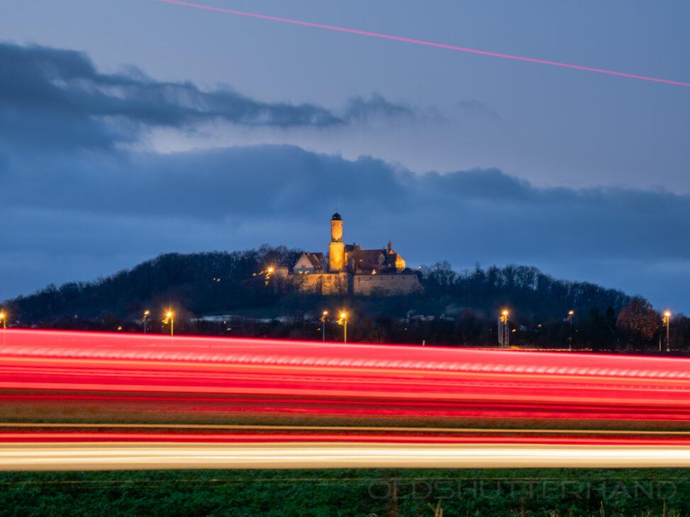 Altenburg mit Verkehr