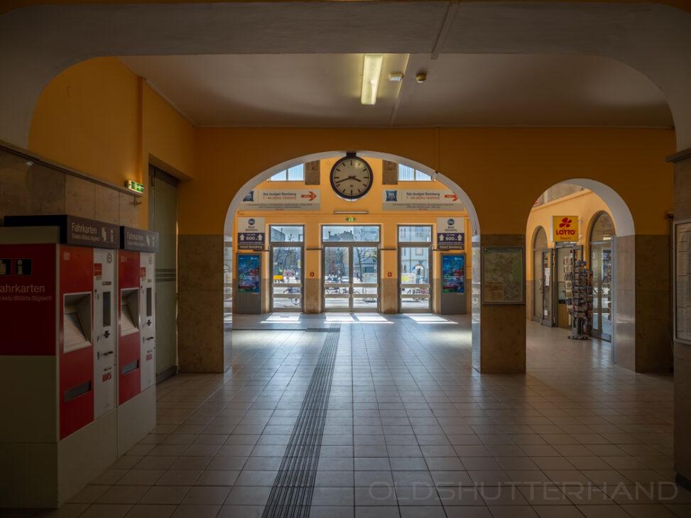 Corona Leere im Bamberger Bahnhof