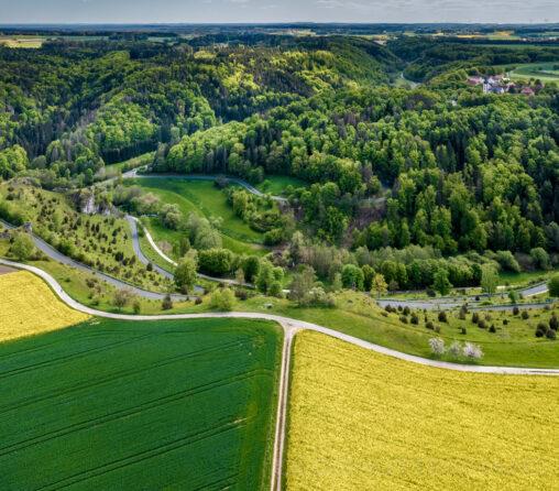 Luftaufnahme vom Wallersberg